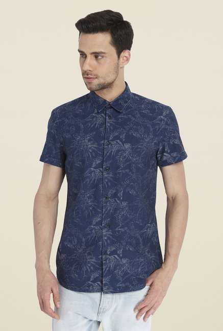 Jack & Jones Navy Printed Shirt