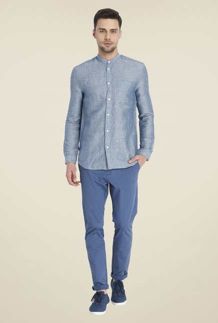 Jack & Jones Blue Linen Shirt
