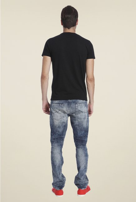 Jack & Jones Black Graphic Print T Shirt