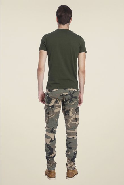 Jack & Jones Olive Graphic Print T Shirt