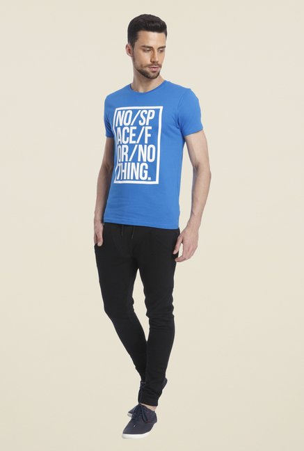 Jack & Jones Blue Graphic Print Short Sleeves T Shirt