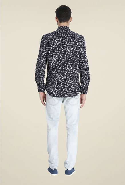 Jack & Jones Black Floral Print Shirt
