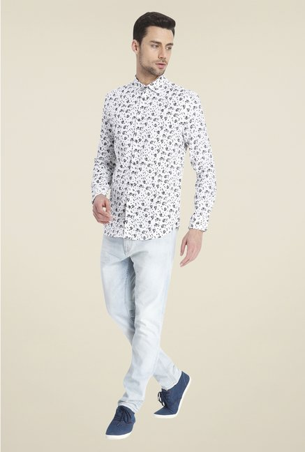Jack & Jones White Floral Print Shirt