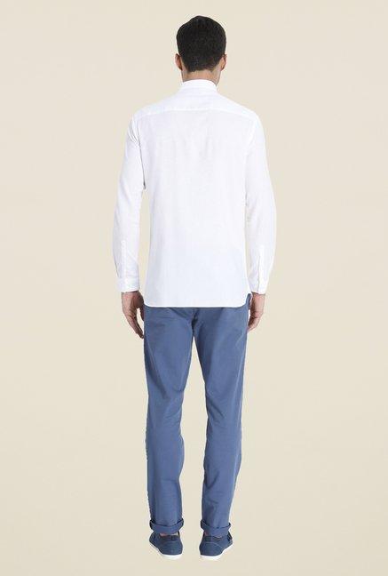 Jack & Jones White Solid Shirt