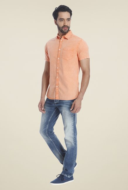 Jack & Jones Orange Solid Shirt
