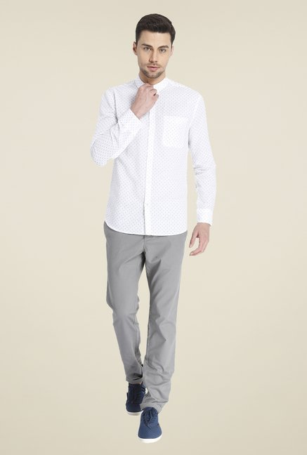 Jack & Jones White Linen Shirt