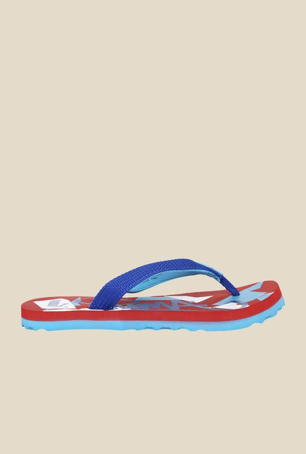 Puma Wave JR II DP Surf the Web & Highrisk Red Flip Flops
