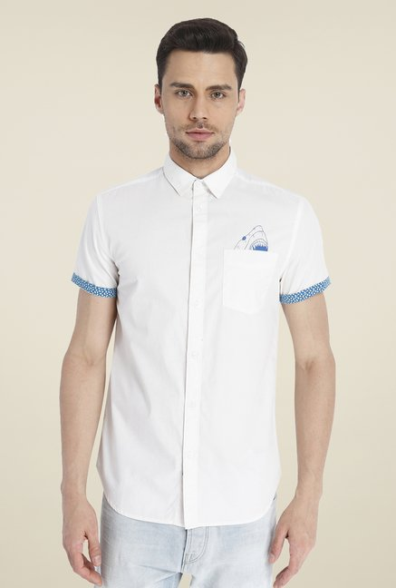 Jack & Jones Cream Solid Shirt