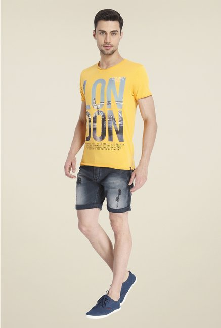 Jack & Jones Yellow Graphic Print T Shirt