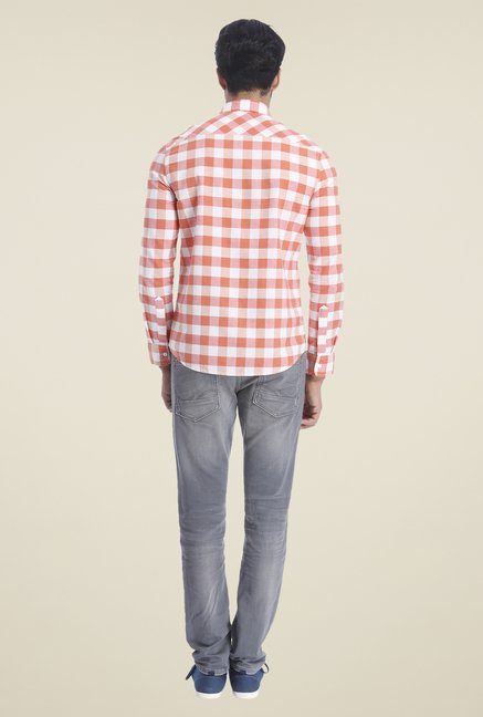 Jack & Jones Coral Checks Shirt
