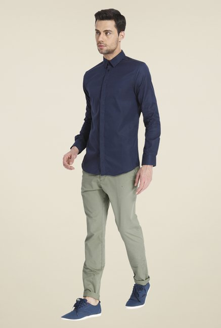 Jack & Jones Navy Solid Shirt