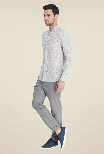 Jack & Jones Grey Linen Shirt