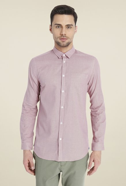 Jack & Jones Maroon Printed Shirt
