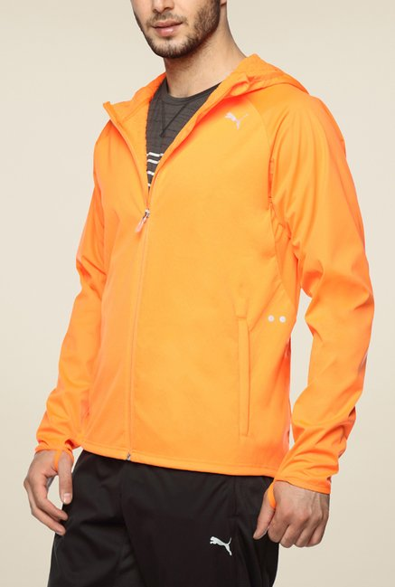 Puma Orange Solid Jacket