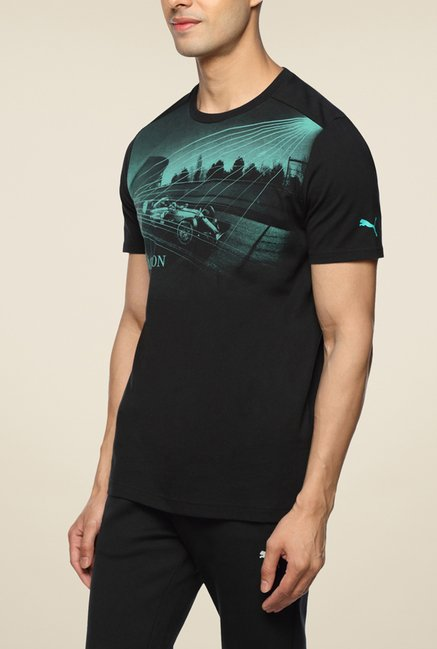 Puma MAMGP Black Graphic T Shirt