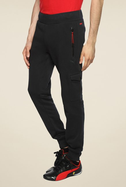 Puma Ferrari Black Solid Trackpant
