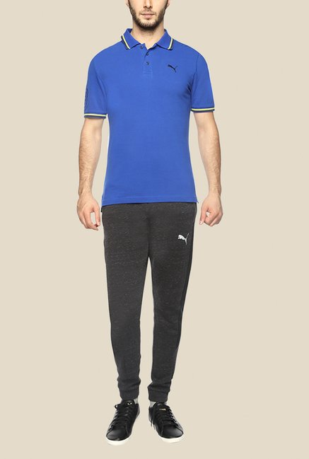 Puma EARL Royal Blue Solid Polo T Shirt