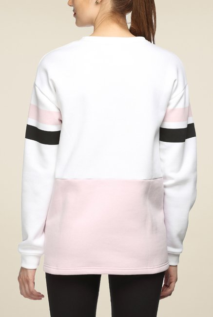 Puma White Solid Sweatshirt