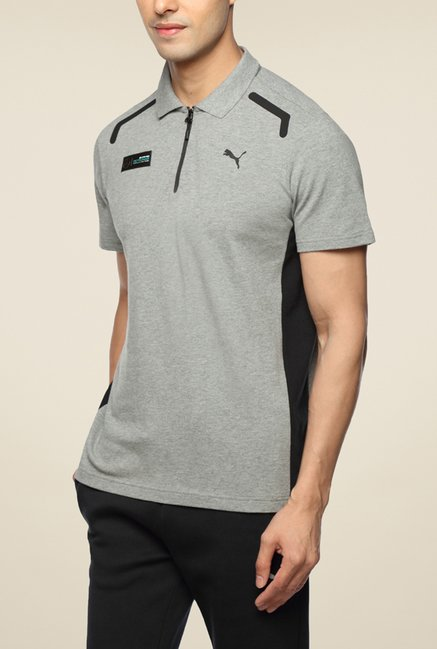 Puma MAMGP Grey Polo T Shirt
