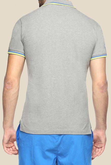 Puma EARL Grey Solid Polo T Shirt