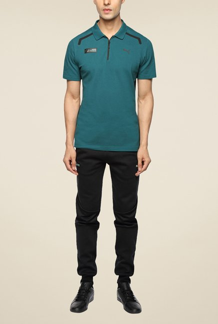 Puma MAMGP Teal Polo T Shirt