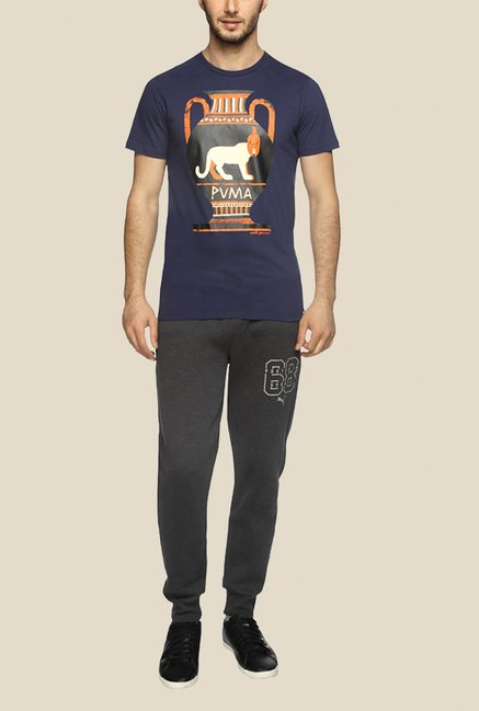 Puma Adrian Johnson Navy Graphic T Shirt