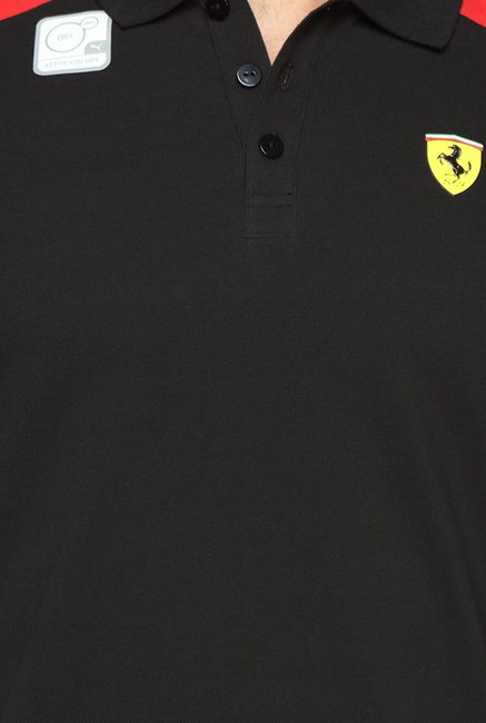 Puma SF Black Polo T Shirt