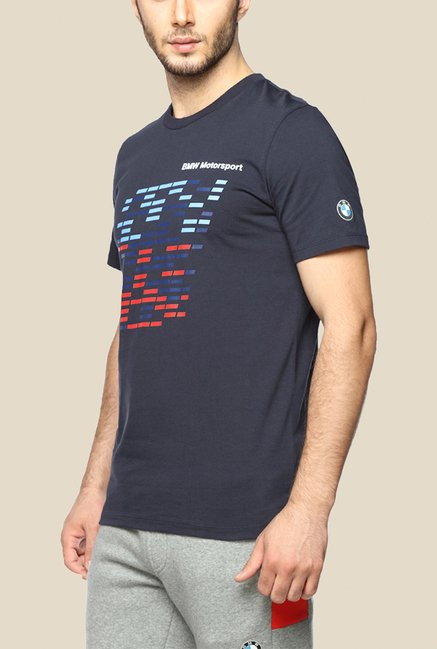 Puma BMW MSP Navy Graphic T Shirt