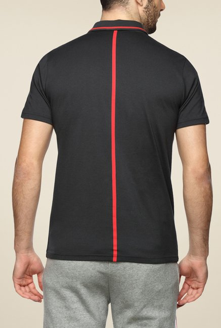 Puma Ferrari Black Polo T Shirt