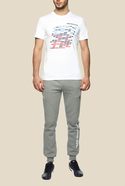 Puma BMW MSP White Graphic T Shirt