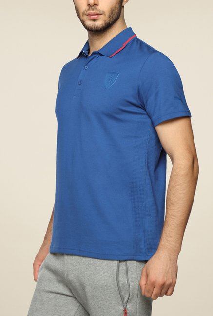 Puma Ferrari Blue Polo T Shirt