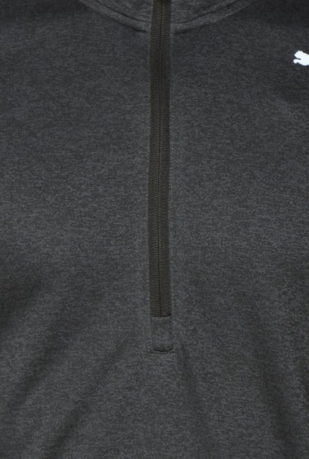 Puma Black Solid T Shirt