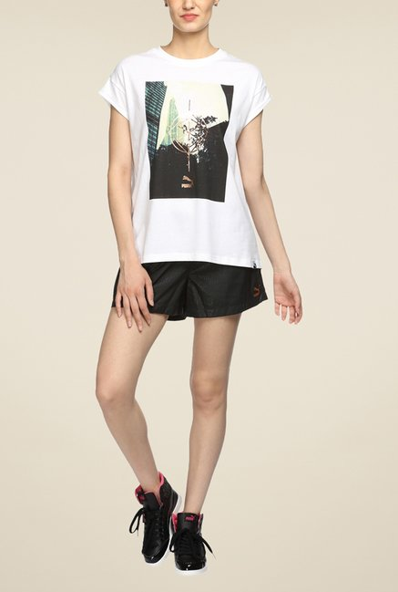 Puma White Graphic T Shirt