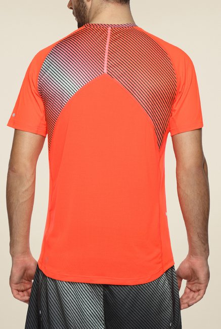 Puma Orange Striped T Shirt