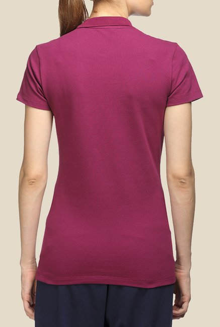 Puma ESS Purple Polo T Shirt