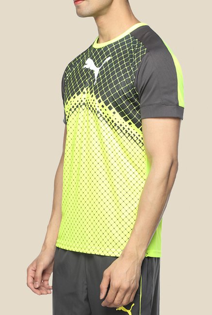 Puma IT evoTRG Yellow Graphic T Shirt
