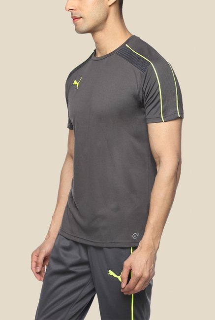 Puma IT evoTRG Grey Solid T Shirt