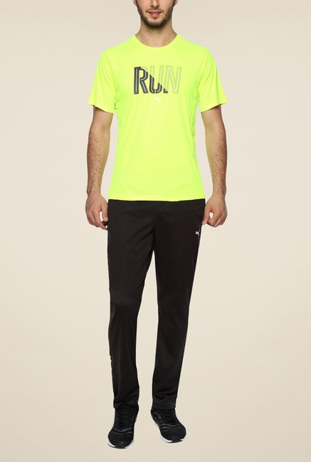Puma Yellow Printed T Shirt