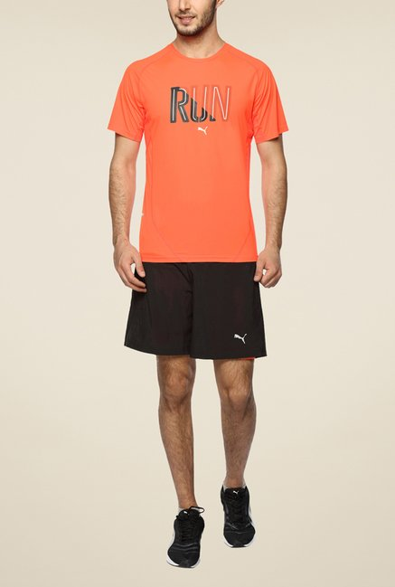Puma Orange Printed T Shirt