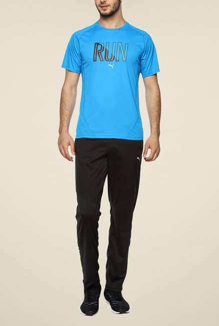 Puma Blue Printed T Shirt