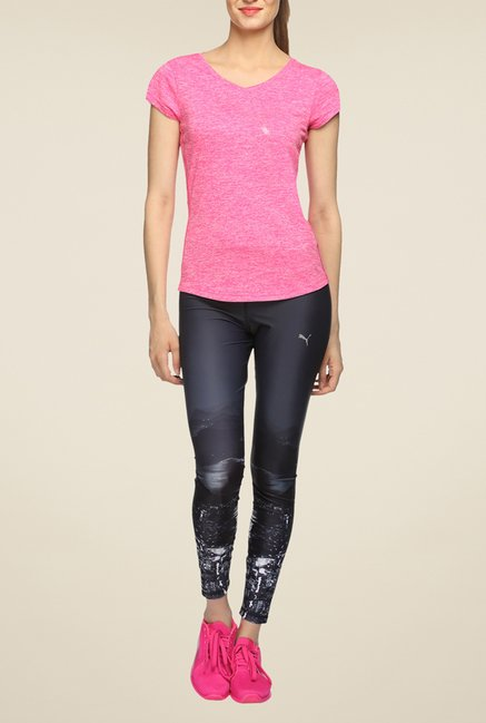 Puma Heather Cat Pink Textured T Shirt
