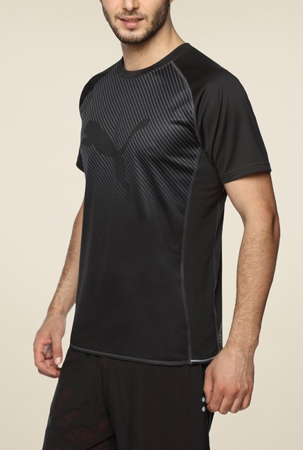 Puma Black Striped T Shirt