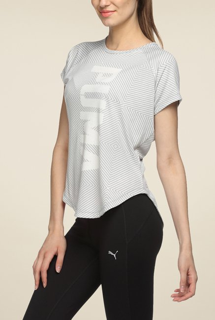 Puma Grey Printed T Shirt