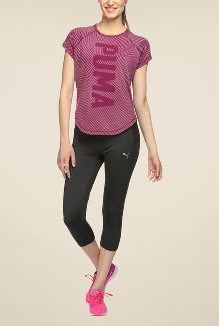 Puma Purple Printed T Shirt
