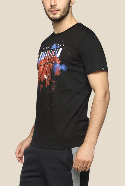 Puma Black Multi Sport Graphic T Shirt