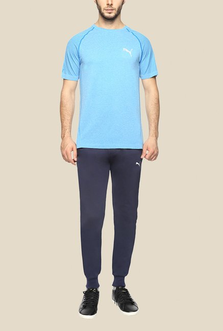 Puma Blue Solid T Shirt