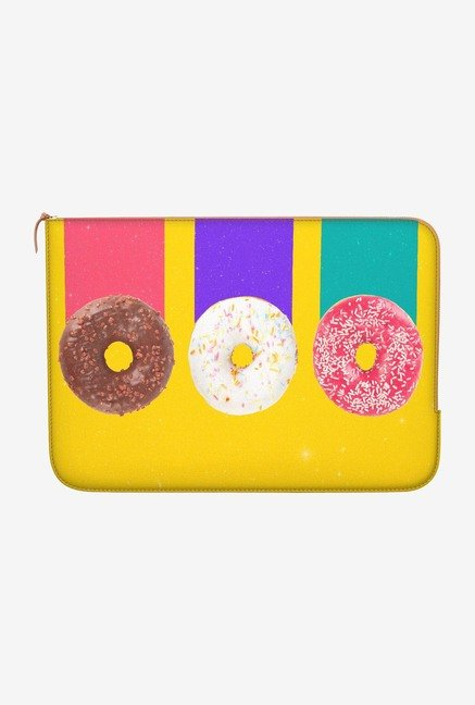 DailyObjects Trio Donuts MacBook Pro 15 Zippered Sleeve