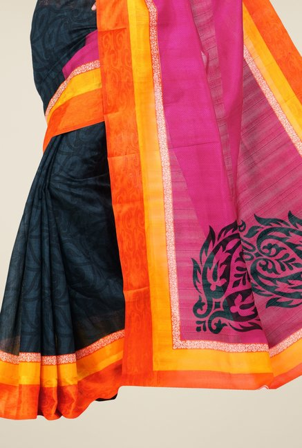 Triveni Multicolor Printed Art Silk Dry Clean Saree