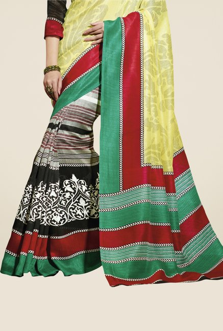 Triveni Multicolor Printed Bhagalpuri Silk Dry Clean Saree