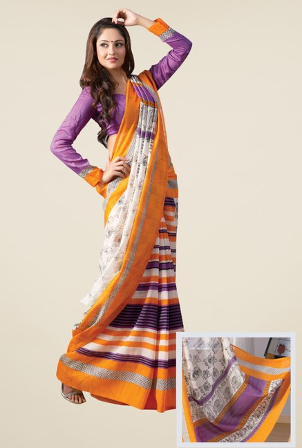 Triveni Multicolor Art Silk Printed Saree